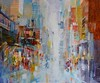 """Life in Motion by Torabi, 36""""x42"""" acrylic mixed medoa painting on loose canvas"""