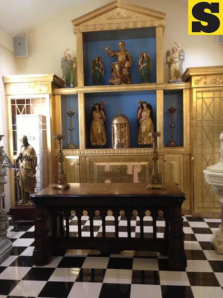 Capilla Santa Ana baptismal room