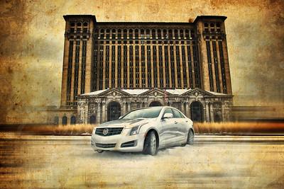 2014 Cadillac,ats,atc,sts,. Michigan Central Station, MCS , Detroit, Car
