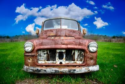 dodge truck vintage rusted abandon ram trucks