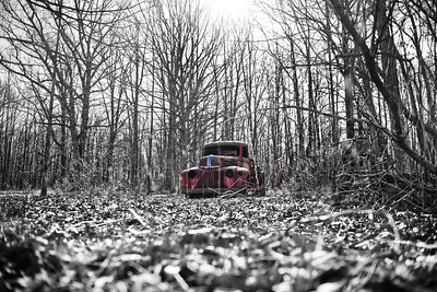 Ford Firetruck  Fire Truck abandon  decay woods rotten rusted