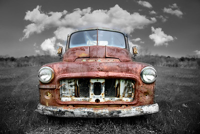 dodge truck vintage rusted