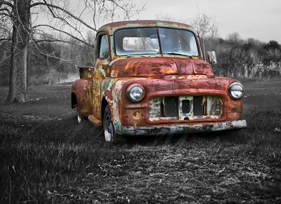 dodge truck vintage rusted