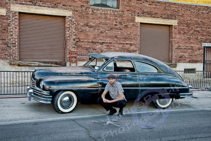 Ryan Messner & his 1950 Packard (original AZ funeral car)