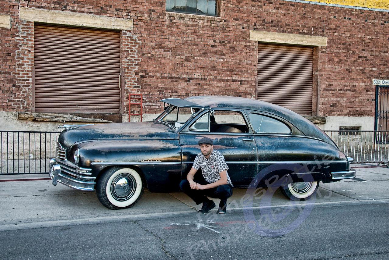 Ryan Messner & his 1950 Packard (original AZ funeral car)