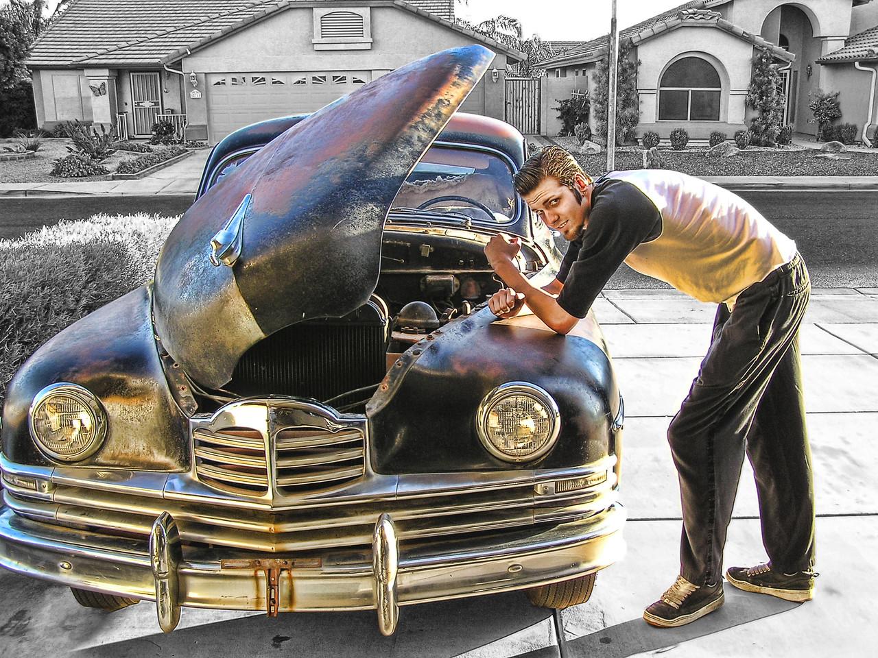 Ryan Messner & his 1950 Packard Nov 11, 2004