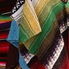 Mexican blankets in market, San Diego
