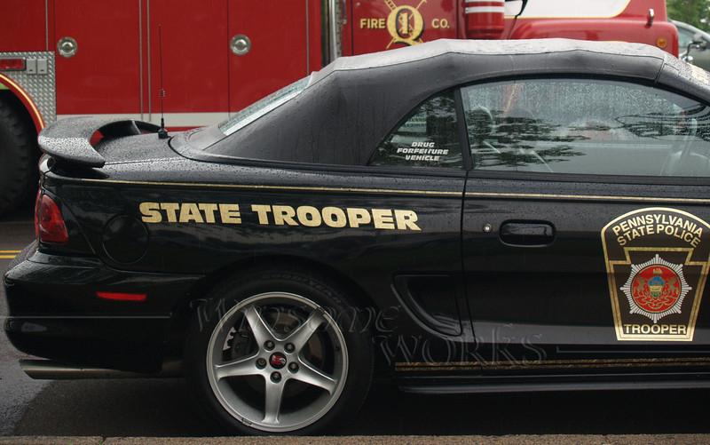 State Trooper car before parade
