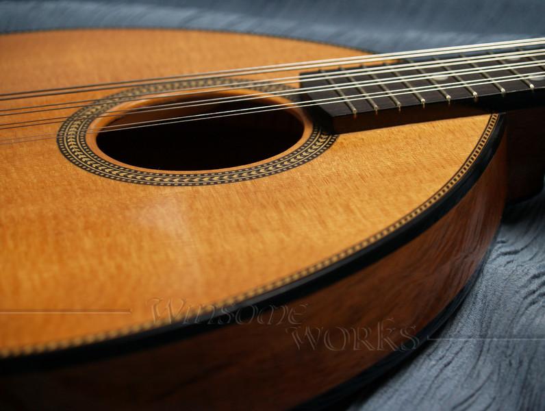 Flatiron Mandolin, made in Bozeman, Montana (herringone trim)