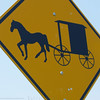 Amish buggy caution sign
