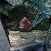 #2 of Pentagonal Rock Series--Icy rock ledge; close view