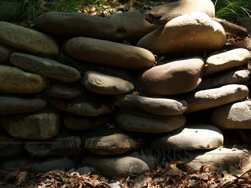 Stone retainer wall, Virginia