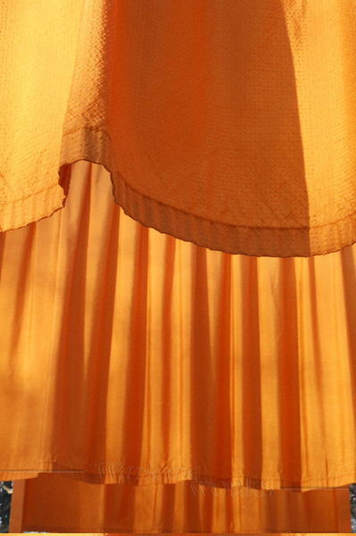 """""""The Gates""""; closeup of the cloth-- Central Park. NYC"""