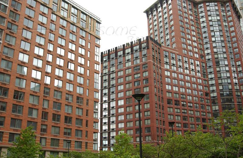 Apartment Buildings in Teardrop Park, Manhattan NY