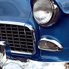 1955 Blue Chevy Front end