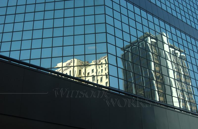 Glass windows in San Diego downtown