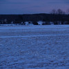 Snowy scene at dusk on Bauman Road; Milford, PA