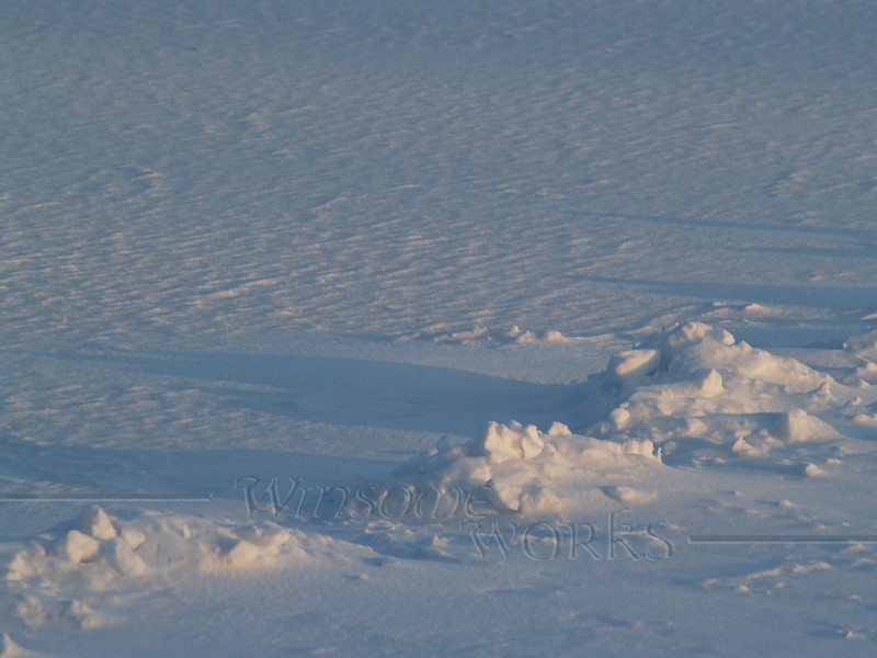 Snow formations at Nockamixon