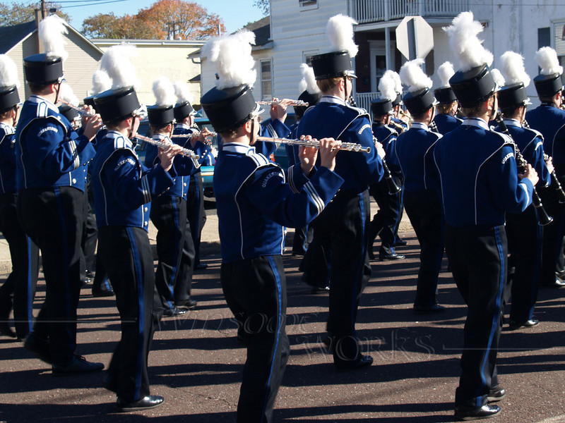 Panther Marching Band in Quakertown's Halloween Parade, 2007