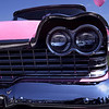 1959 Pink Plymouth Fury with Balloon at Classic Car Show
