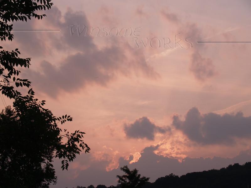 Sunset seen in Virginia