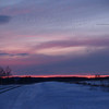 Snowy Sunset on Bauman Road - Milford Square, PA