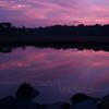 Weekapaug pond sunrise in purple