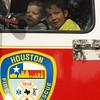Dominic & Christian in Fire Truck