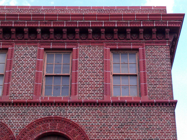 Architectural detail of building in Ann Arbor, MI