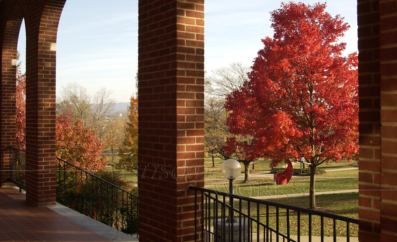 View from balcony at Eastern Mennonite University, VA