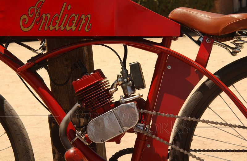 """Old """"Indian"""" motorcycle seen in San Diego"""