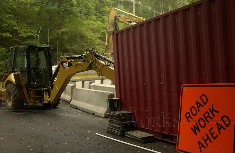 Road and bridge repair work in Bucks County