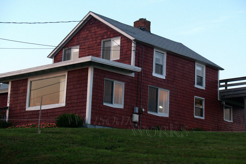 Old red house by Point Judith Light, RI