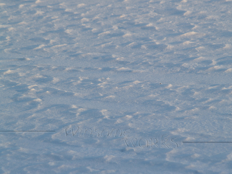 Snow patterns on Lake Nockamixon