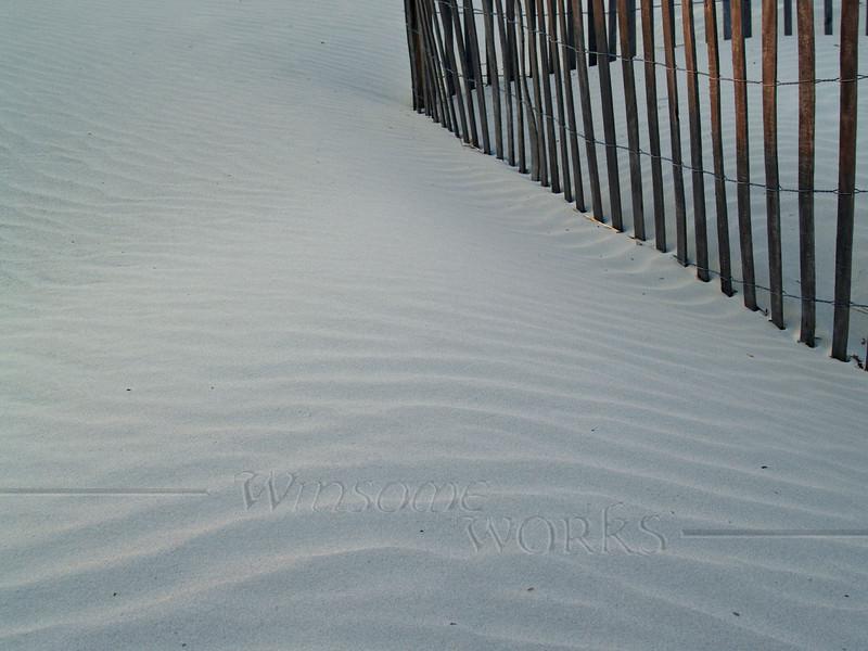 Sand Patterns at Dusk