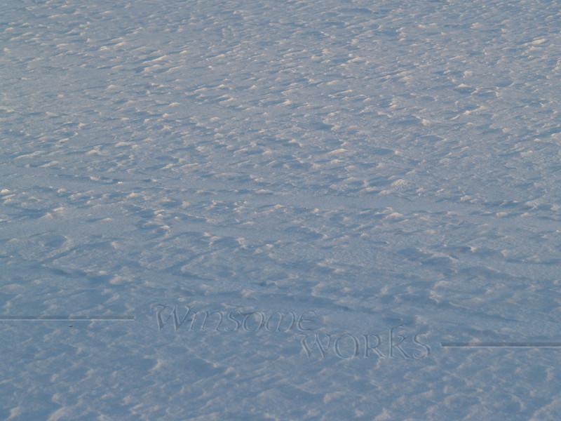 Wind-blown snow formations on Lake Nockamixon