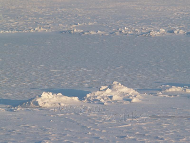 Snow formations on Lake Nockamixon
