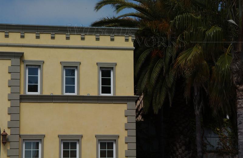 Yellow building in La Jolla, CA