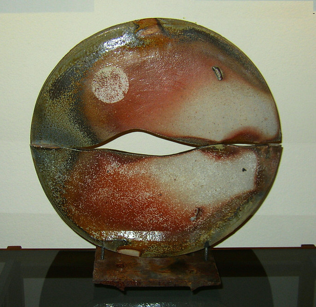 "Dimensions: Diameter 20"" Base: 6 X 10<br /> Title: Sunrise"