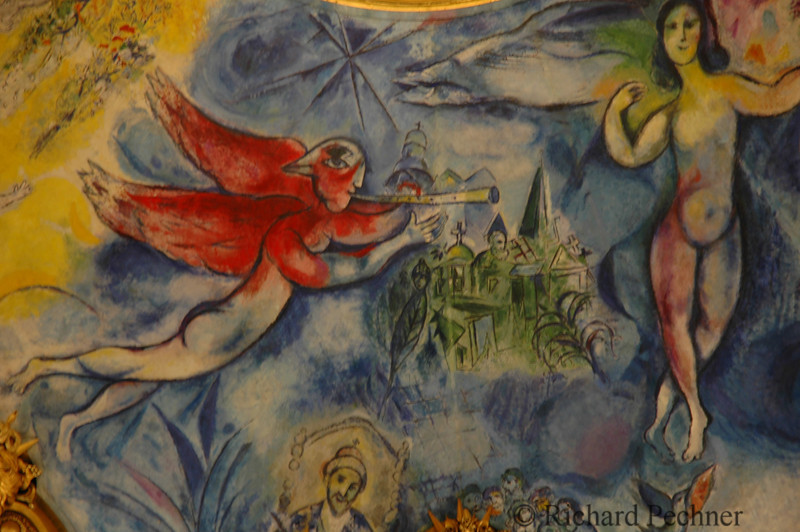 Closeup Chagall ceiling Paris Opera House
