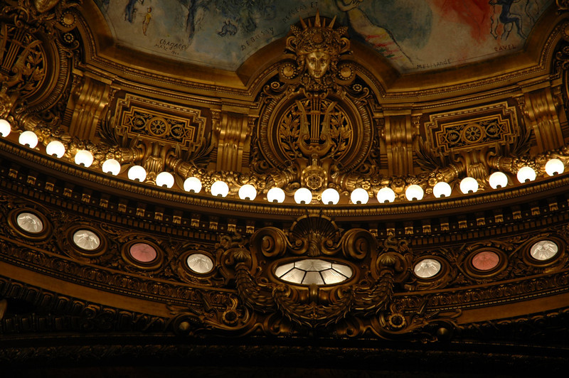 Edge detail Chagall ceiling Oper House Paris