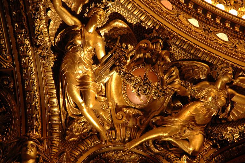 Closeup edge detail Chagall ceiling