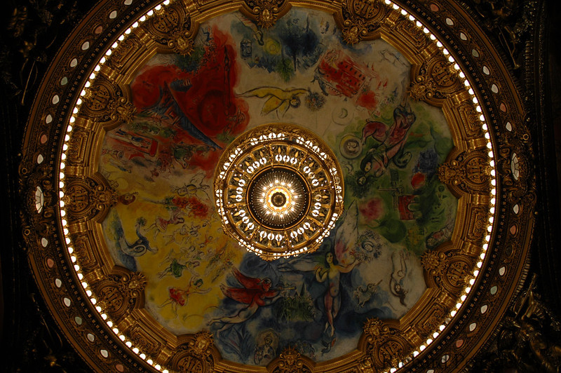 Chagall ceiling at L'Opera