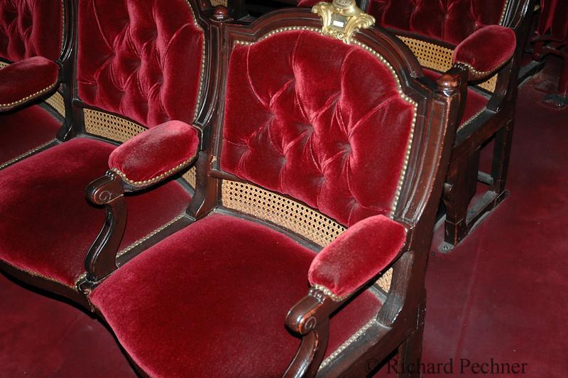 velvet chairs opera house Paris