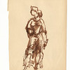 Standing Woman.  Brown ink and wash on paper.  Unsigned.  9 11/16 x 7 1/2 in.  (24.5 x 19 cm.)  1930s.