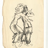 Two Dancers.  Black ink and wash on paper.  Signed LR in ink:  KCh G. and with his cipher.  9 11/16 x 7 1/2 in. (24.5 x 19 cm.)  1930s.
