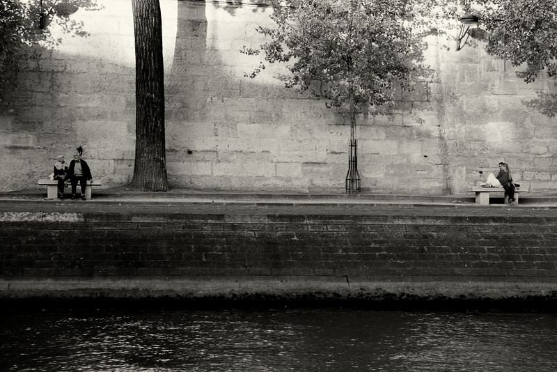 Old love and new love on the Seine.
