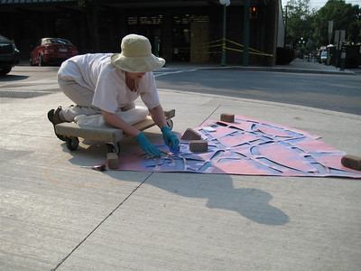 Chalk Peace Mandala