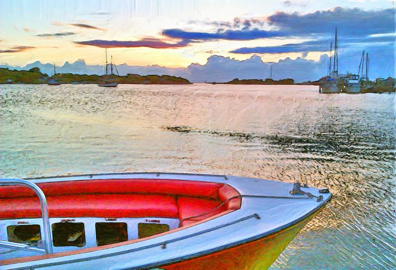 Sunset on the Harbor in Ocracoke