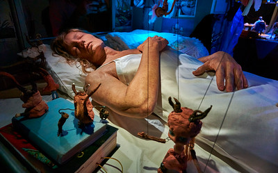 June 4, 2016- New York, New York : Janet Cardiff & George Bures Miller - The Marionette Maker  at Luring Augustine Gallery  Chelsea, NY  Credit: Robert Altman